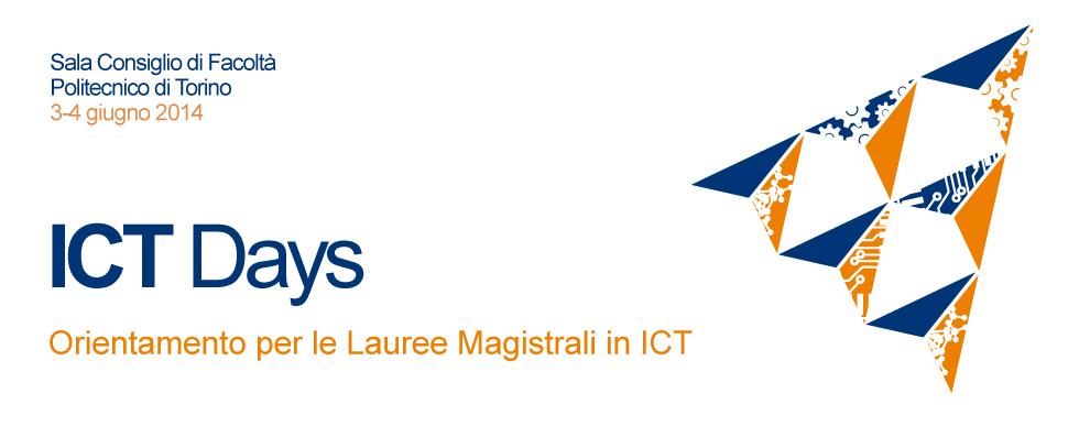 3-4 giugno 2014 - ICT DAYS - L'orientamento per le Lauree Magistrali in ICT