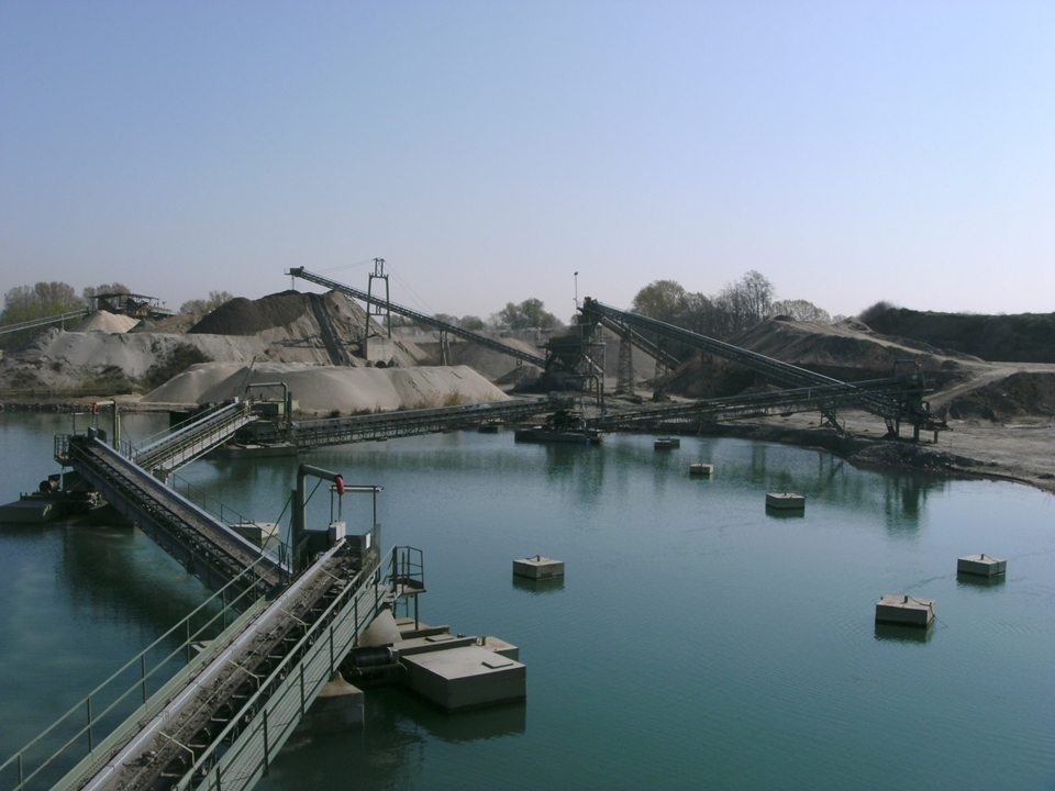 Sand and gravel quarry, La Loggia (Turin)